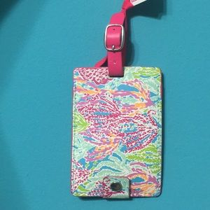 Lilly Pulitzer luggage tag let's cha cha NWT